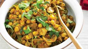 Chickpea, Spinach and Mushroom Curry