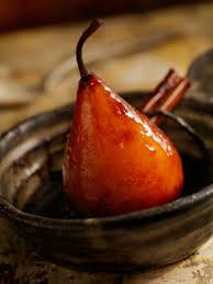 Baked Pears With Saffron, Cinnamon and Vanilla