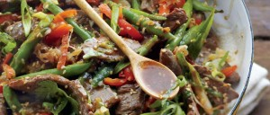 Ginger Beef and Bean Stir Fry