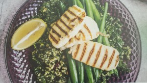 Amaranth Tabouleh with Beans and Haloumi