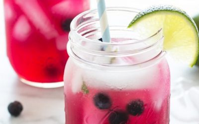 Berry-licious Mint Kombucha Mocktail