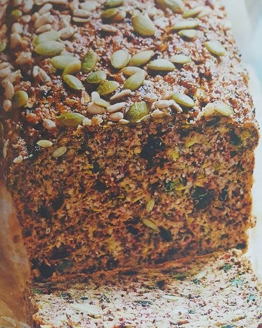 Chia, Zucchini And Hazelnut Bread With Cashew Nut Butter
